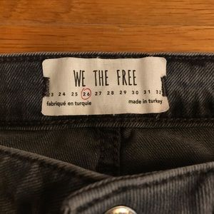 We The Free Jeans - We The Free Embroidered Black Denim Jeans